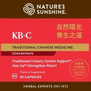 Nature's Sunshine KB-C TCM Label