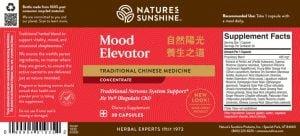 Nature's Sunshine Mood Elevator TCM Label