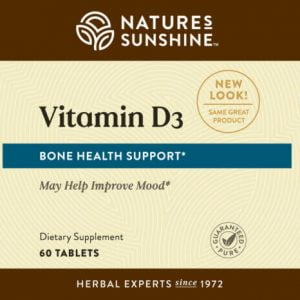 Nature's Sunshine Vitamin D3 Label