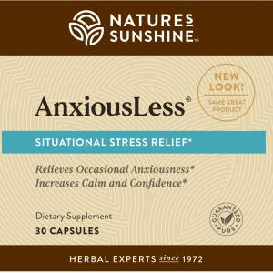 Nature's Sunshine AnxiousLess Label