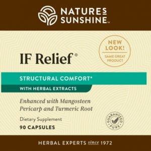 Etiqueta de Nature's Sunshine IF Relief