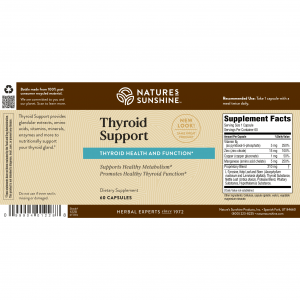 Nature's Sunshine Thyroid Support Label