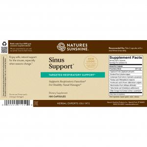 Natures Sunshine Sinus Support Label