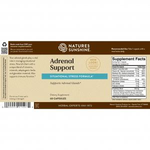 Natures Sunshine Adrenal Support Label