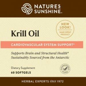 Nature's Sunshine Krill Oil Label