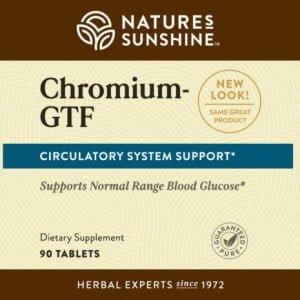 Nature's Sunshine Chromium-GTF Label