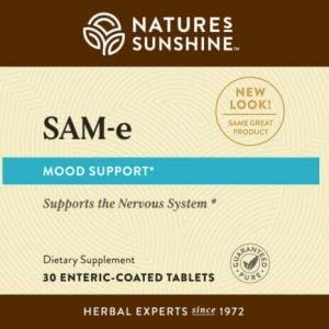 Nature's Sunshine SAM-e label