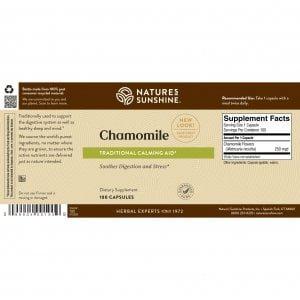 Nature's Sunshine Chamomile Label