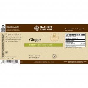 Nature's Sunshine Ginger Label