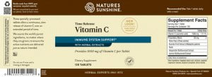 Nature's Sunshine Vitamin C Time Release Label