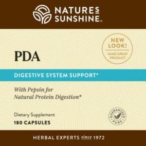 Nature's Sunshine PDA Label