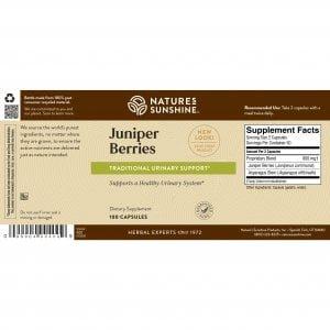 Nature's Sunshine Juniper Berries Label