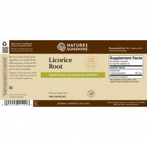 Nature's Sunshine Licorice Root Label