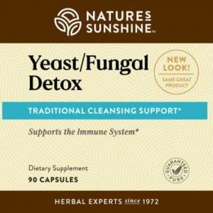 Nature's Sunshine Yeast Fungal Detox Label