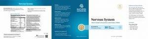 Nature's Sunshine Nervous System Label
