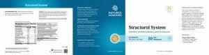 Nature's Sunshine Structural System Label