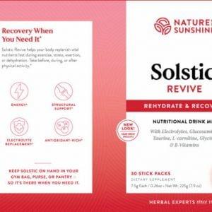 Nature's Sunshine Solstic Revive Label