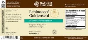 Nature's Sunshine Echinacea/ Golden Seal Label