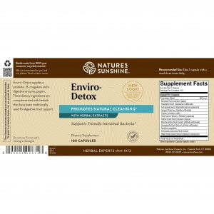 Nature's Sunshine Enviro-Detox Label