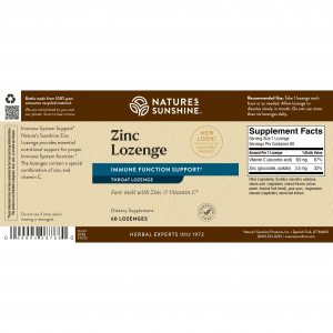 Nature's Sunshine Zinc Lozenge