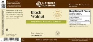 Nature's Sunshine Black Walnut Label