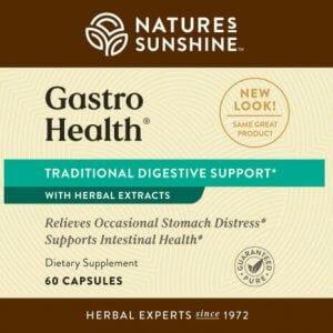 Nature's Sunshine Gastro Health Label