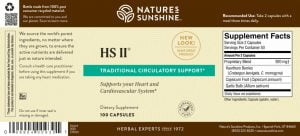 Nature's Sunshine HS II Label
