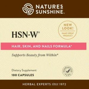Nature's Sunshine HSN-W Label