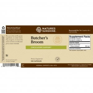 Nature's Sunshine Butcher's Broom Label