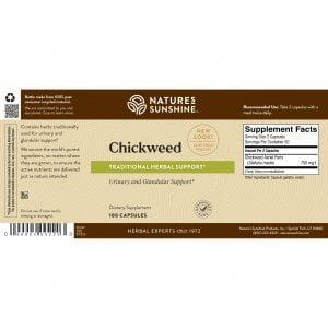 Nature's Sunshine Chickweed Label