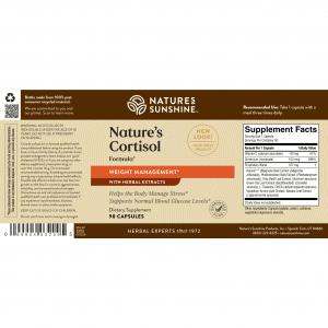 Nature's Sunshine Nature's Cortisol Label