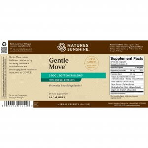 Nature's Sunshine Gentle Move Label