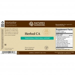 Nature's Sunshine Herbal CA Label