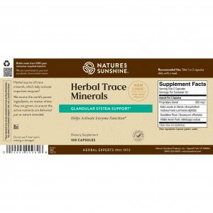 Nature's Sunshine Herbal Trace Minerals Label