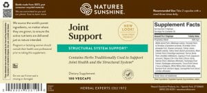 Nature's Sunshine Joint Support Label