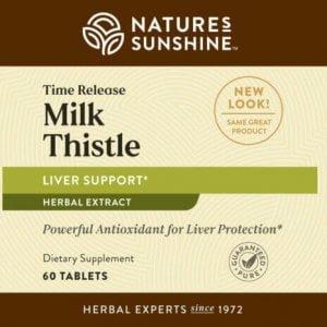 Nature's Sunshine Time Release Milk Thistle Label
