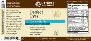 Nature's Sunshine Perfect Eyes Label