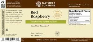 Nature's Sunshine Red Raspberry Label
