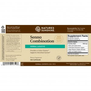 Nature's Sunshine Senna Combination Label