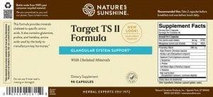 Nature's Sunshine Target TS II Formula Label