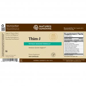 Nature's Sunshine Thim-J Label