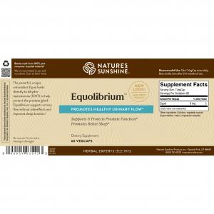 Nature's Sunshine Equolibrium Label
