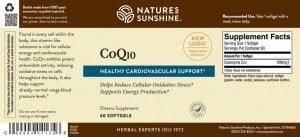 Nature's Sunshine CoQ10 Label