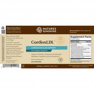 Nature's Sunshine CardioxLDL Label