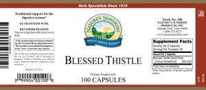 Nature's Sunshine Blessed Thistle Label