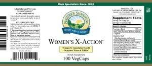 Nature's Sunshine Women's X-Action Label