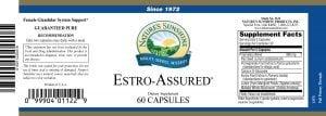 Nature's Sunshine Estro-Assured Label