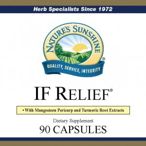 Nature's Sunshine IF Relief label