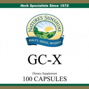 Nature's Sunshine GC-X label