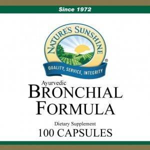 Nature's Sunshine bronchial formula label